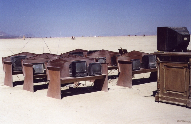 An installation at Burning Man