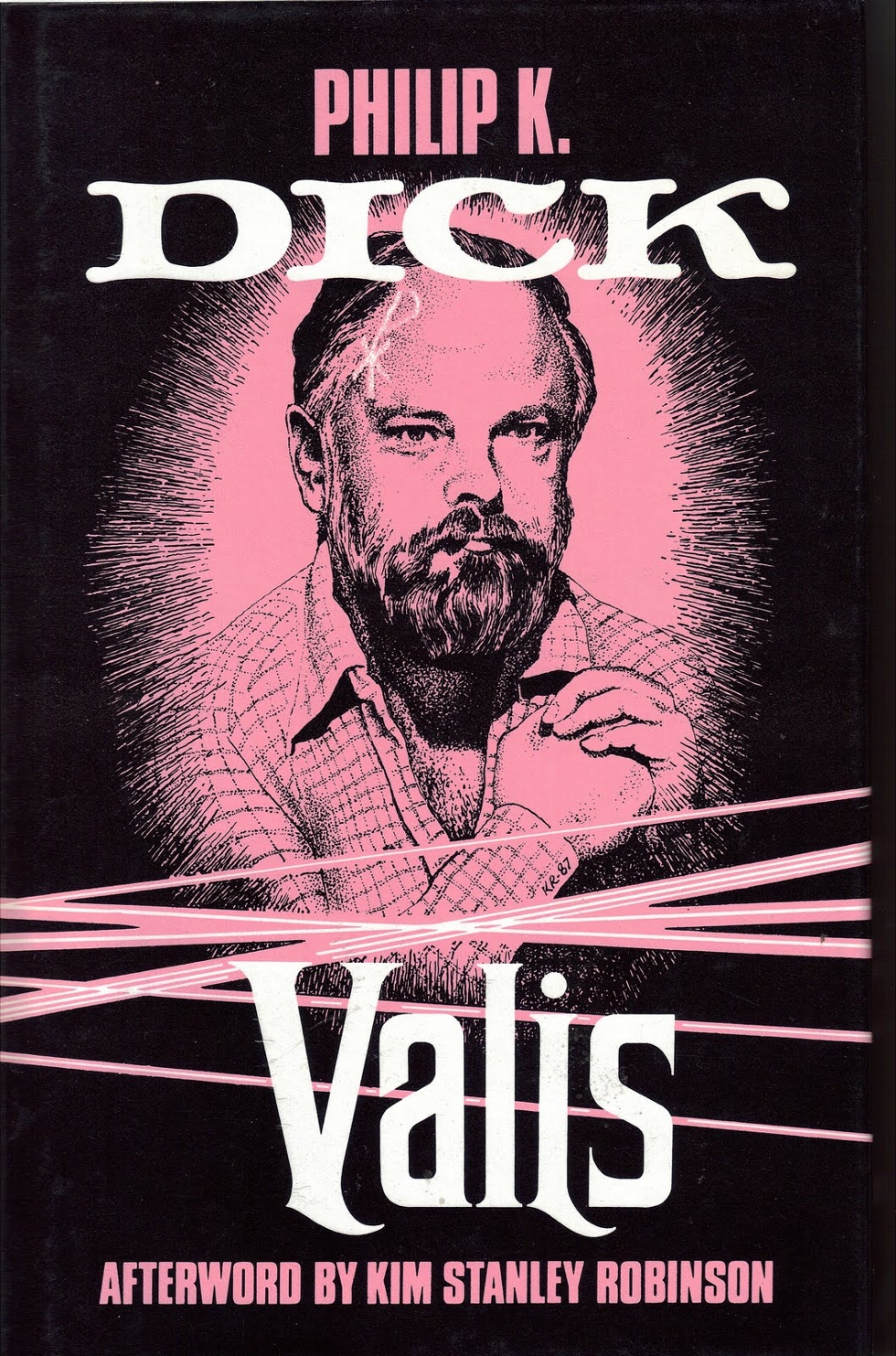 Valis cover with portrait of Philip K. Dick