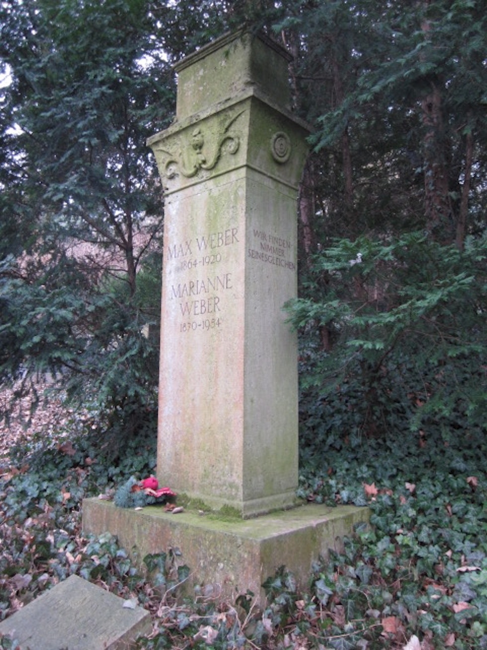 Photograph of Max Weber's grave, courtesy of the author