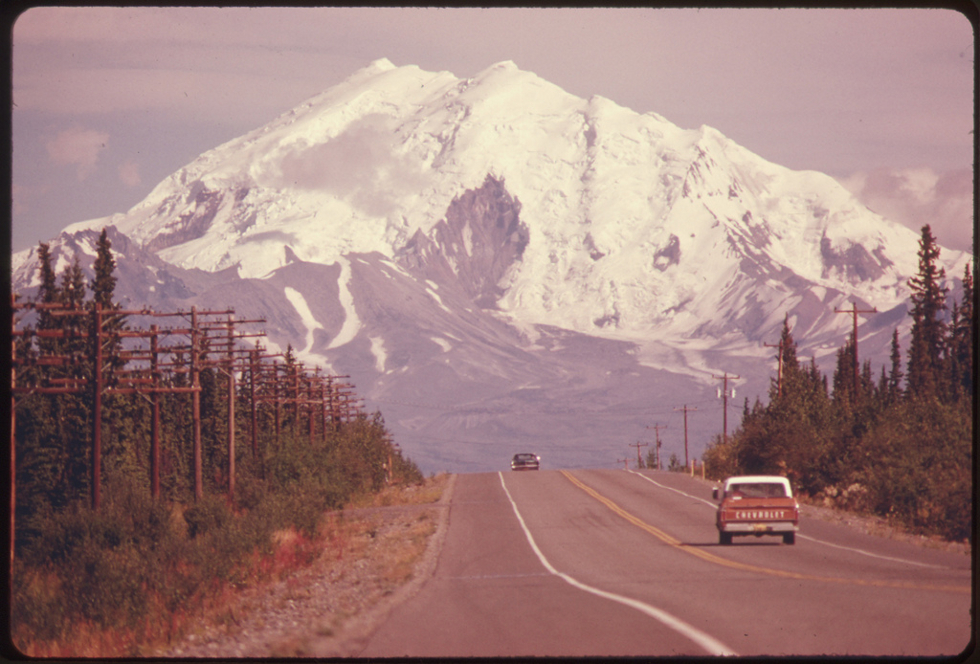 View East Along Glen Highway Toward Mount Drum by Dennis Cowals. All images courtesy of <a href='http://www.flickr.com/photos/usnationalarchives/' target='_blank'>U.S. National Archives</a>.
