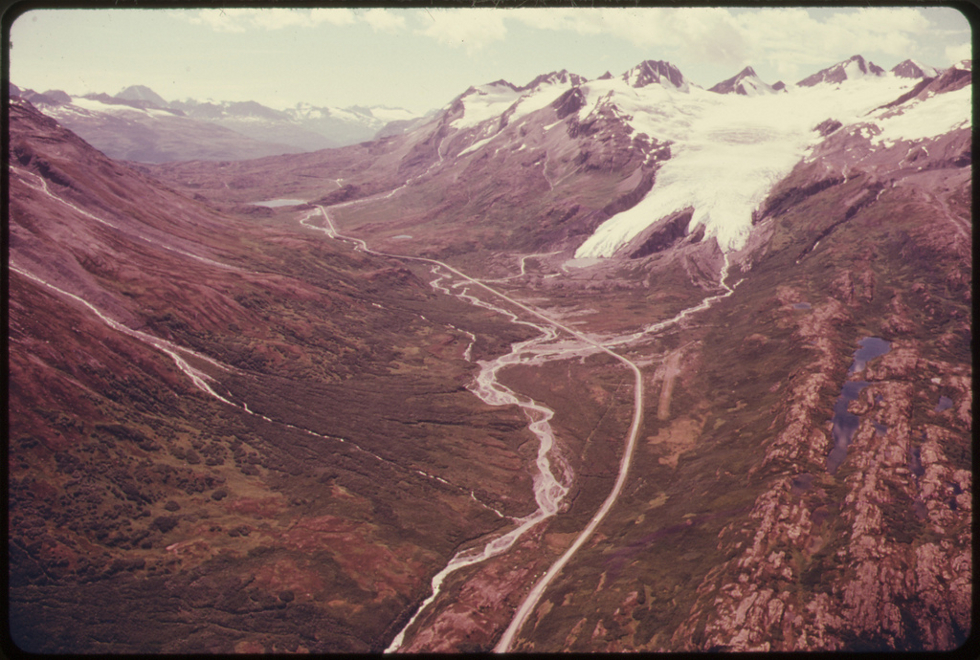 View West Toward Worthington Glacier and Thompson Pass by Dennis Cowals