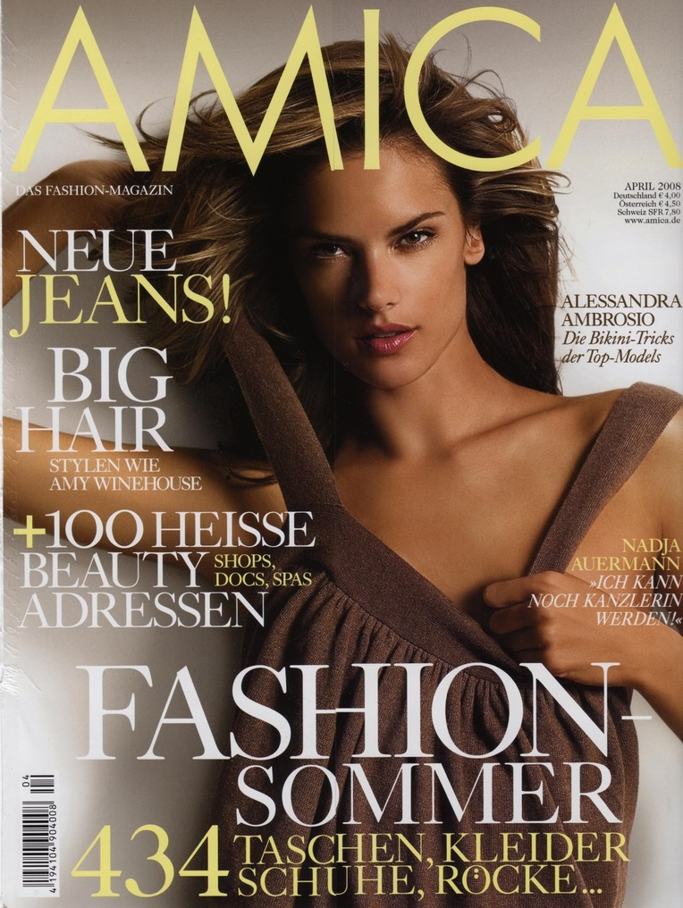 April 2006 cover of <em>Amica</em> magazine